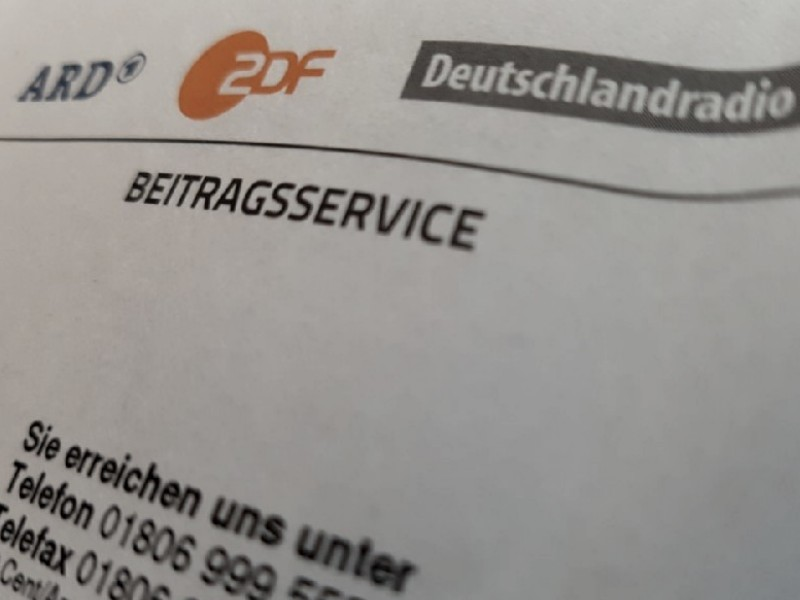 Das Foto zeigt den Briefkopf von ARD, ZDF und Deutschlandradio Beitragsservice.
